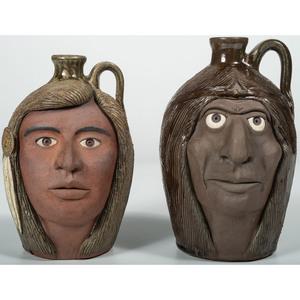 Michael and Melvin Crocker American Indian Face Jugs