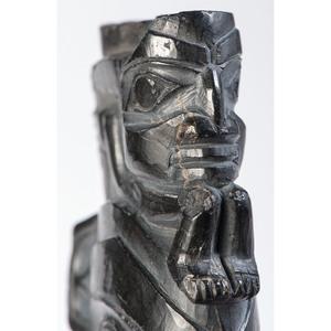 Haida Carved Argillite Panel Pipe