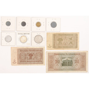 Lot of Third Reich Currency