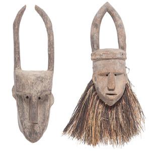 African Mali Bamana Masks
