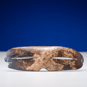 Alaskan Eskimo Child's Fossilized Ivory Snow Goggles, From the Collection of Thomas Amble, Minnesota