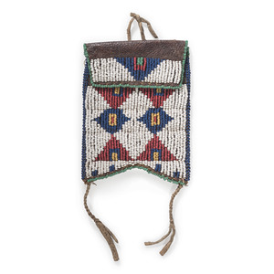 Sioux Beaded Hide Ration Case, From the Collection of Thomas Amble, Minnesota
