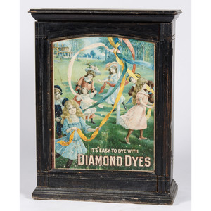Diamond Dyes Tin Display Cabinet