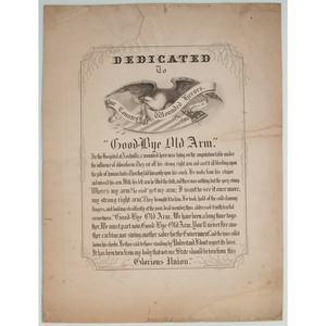 Civil War Broadside, Dedicated to Our Country's Wounded Heroes