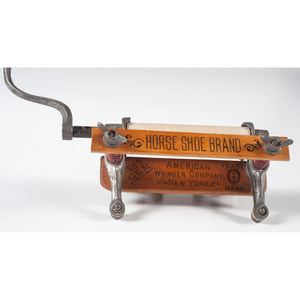 Horseshoe Brand Salesman Sample Clothes Ringer with Pan American Expo Advertisement, 1901