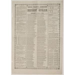 Civil War Independent Republican Carriers' Address Broadside, 1864