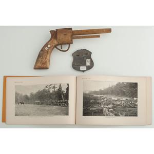 Civil War Souvenirs, Incl. Gettysburg Toy Pistol and Textile