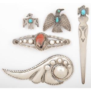 Thundbird Shop Silver Brooch / Pin PLUS Fred Harvey Era Accuntraments