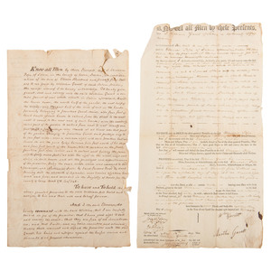 Archive of the Gavet Family of Salem, Massachusetts, Two Documents Signed by Supreme Court Justice Joseph Story