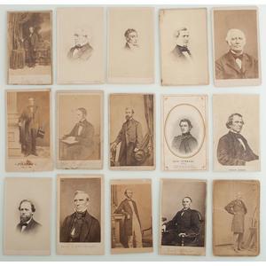 CDVs of Civil War-Era Politicians and Personalities