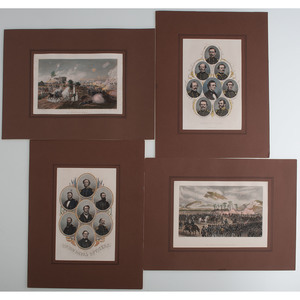 Civil War Lithographs and Engravings of Union and CSA Officers and Battle Scenes, Incl. Gettysburg and Lookout Mountain
