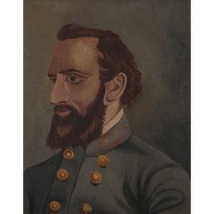 Folk Art Painting of CSA General Thomas