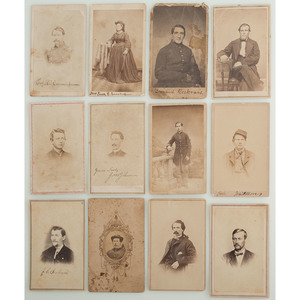 Civil War CDVs of Identified Union Soldiers, Incl. Col. Richie Cunningham, Comedian-turned-Colonel of 8th US Colored Troops