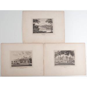 J.C. Wild, Five Engraved Plates of Philadelphia, Incl. US Naval Asylum