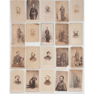 Civil War CDVs of Union Officers, Lot of 20