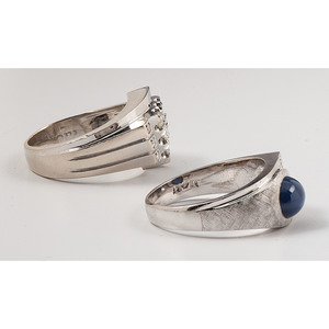Vintage Gents Rings in 14k White Gold