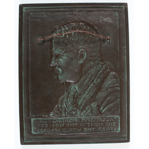 Theodore Roosevelt Bronze Bas-Relief Plaque by James Earle Fraser