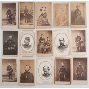 Civil War CDVs of Union Generals, Lot of 77