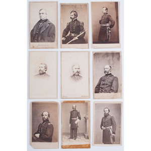 Brady CDVs of Union Generals: Banks, Burnside, Anderson, Augur, Keyes, French, Couch, Van Alen, Gillmore