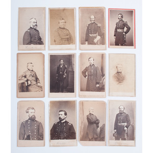Brady/Anthony Civil CDVs of Union Generals, Lot of 12