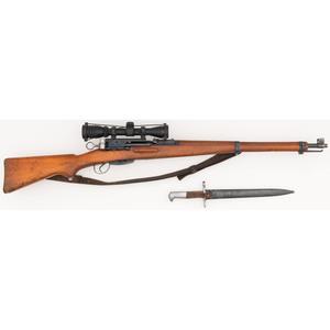 ** Swiss Schmidt Rubin K31 Military Rifle with Bayonet