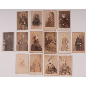 Civil War CDVs of Union Generals, Lot of 14
