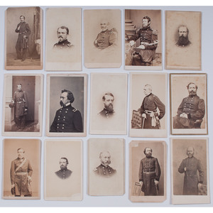 Civil War CDVs of Union Officers, Lot of 15