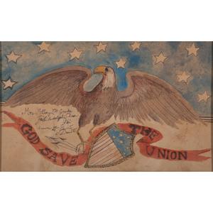 Patriotic Civil War-Era Watercolor, God Save the Union