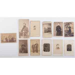 Miscellaneous Civil War CDVs, Including Elmer Ellsworth, Soldiers, Generals, and More