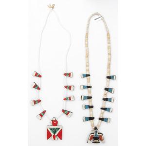 Kewa Depression Era Necklaces with Thunderbird Pendant