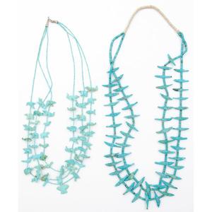 Pueblo Turquoise Fetish Necklaces