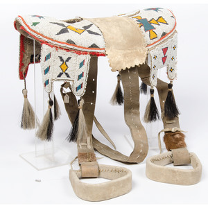 Plains Cree Beaded Hide Pad Saddle