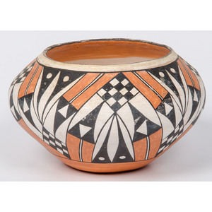 Acoma Polychrome Pottery Bowl