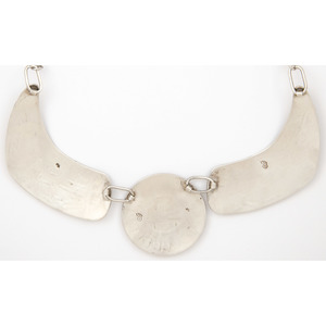 Marcus Coochwikvia (Hopi, 20th Century) Silver Overlay Necklace