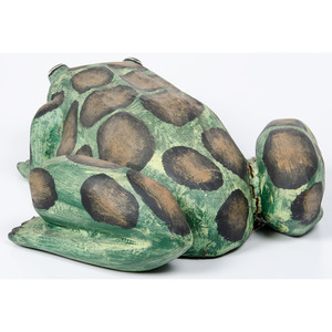 Ben Ortega (Tesuque, 1932-1998) Carved Wood Frog, From The Harriet and Seymour Koenig Collection, NY