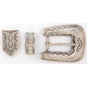 Stamped Silver Navajo Arts & Crafts Guild Ranger Set