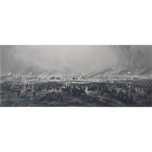 Gettysburg, Repulse of Longstreet's Assault, Panoramic Engraving