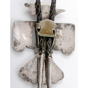 Zuni Silver and Channel Inlay Thunderbird Bolo Ties