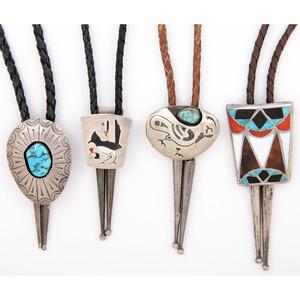 Zuni, Navajo, and Hopi Bolo Ties