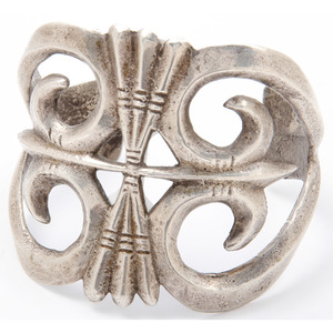 Navajo Sand Cast Silver Cuff Bracelet