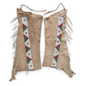 Sioux Beaded Hide Leggings