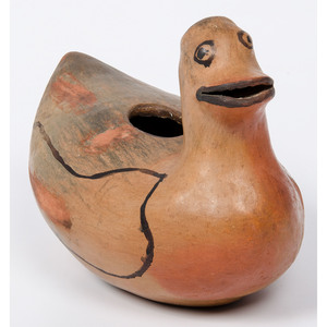 Hopi Duck Pottery Bowl, Deaccessioned From the Hopewell Museum, Hopewell, NJ
