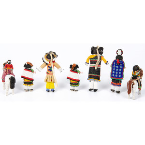 Zuni Beaded Dolls, Deaccessioned From the Hopewell Museum, Hopewell, NJ