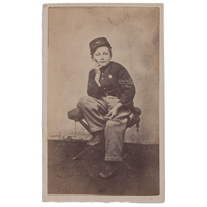 CDV of Johnny Clem, Drummer Boy of Chickamauga