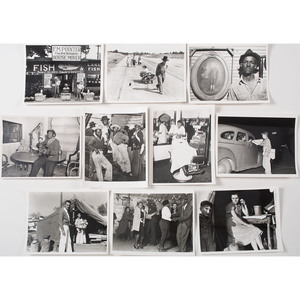 Type II Photographs of Depression-Era America, Including African-American Life, Plus, Lot of 10
