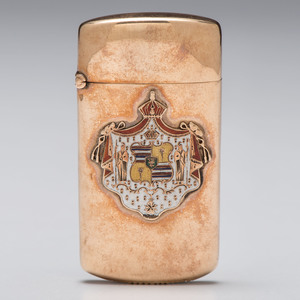H. F. Wichman 14k Rose Gold Match Safe
