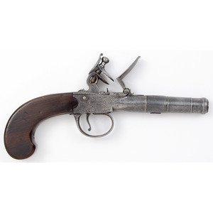English Bateman Flintlock Boxlock Pistol