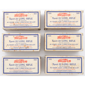 Six Bricks Of Western  Xpert 22 Long Rifle Cartridges