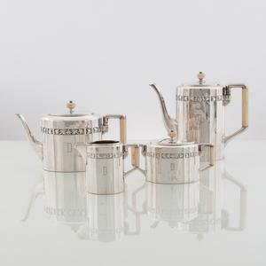 Bremer Silberwarenfabrik .800 Silver Coffee and Tea Set