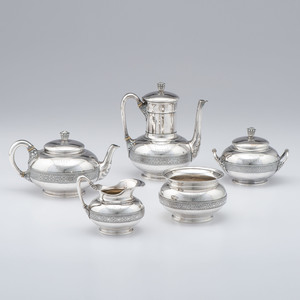 Tiffany & Co. Sterling Silver Tea and Coffee Service, Belonging to Col. Charles Hobart Clark